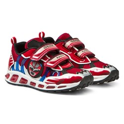 Geox Jr Shuttle Light Up Sneakers Red & Royal