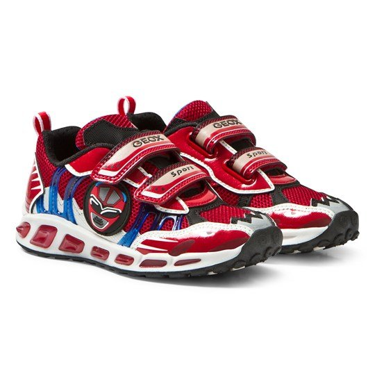 Geox Jr Shuttle Light Up Sneakers Red & Royal C7213