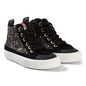 Image of Victoria Zip-Up Glitter Sneakers Black 22 EU (3056092305)
