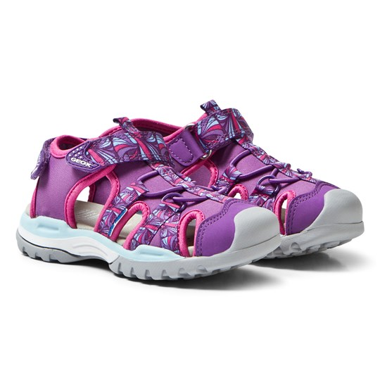 Geox Jr Borealis Water Friendly Sandals Purple C8000