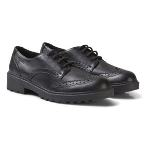 Image of Geox Black Casey Leather Brogues 28 (UK 10) (2743697343)