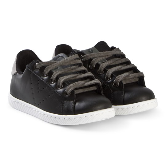 Victoria Zipper Sneakers Black Black