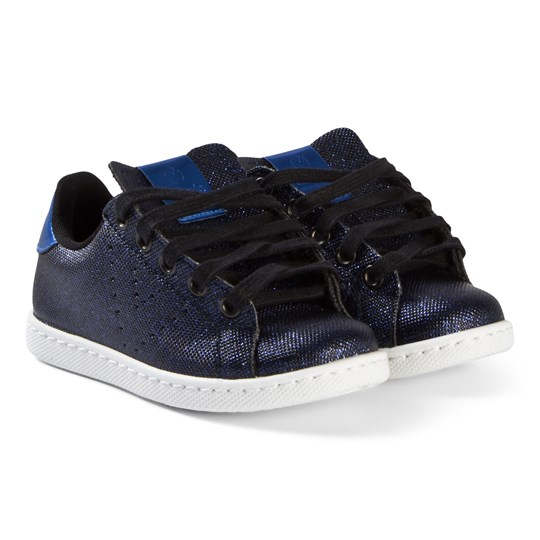 Victoria Metal Zipper Sneakers Navy Navy