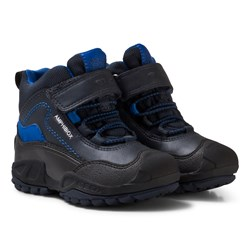 Geox Navy and Royal Blue Jr New Savage Abx Waterproof Boots