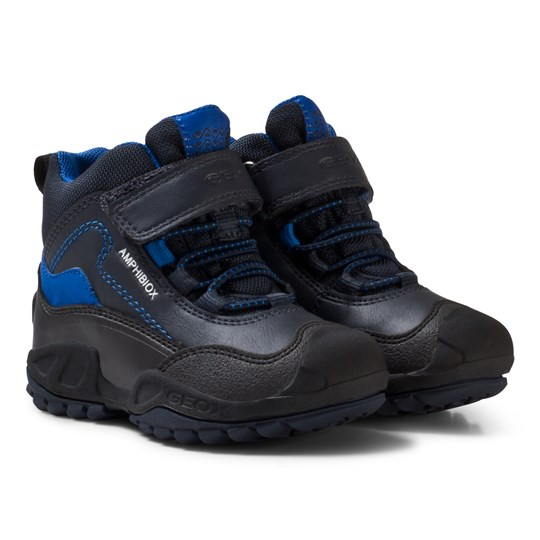 Geox Navy and Royal Blue Jr New Savage Abx Waterproof Boots C4226