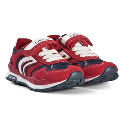 Geox Red Pavel Velcro Sneakers