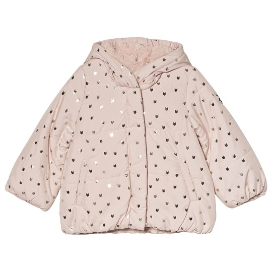 9535c8348 IKKS - Pink and Gold Print Teddy Lined Padded Coat - Babyshop.com
