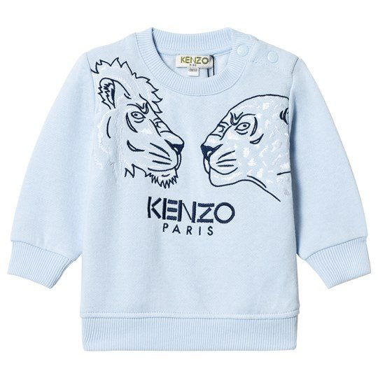 Kenzo Pale Blue Tiger and Friends Embroidered Sweatshirt 41