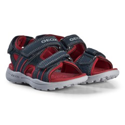 Geox Navy and Red Gleeful Sandals
