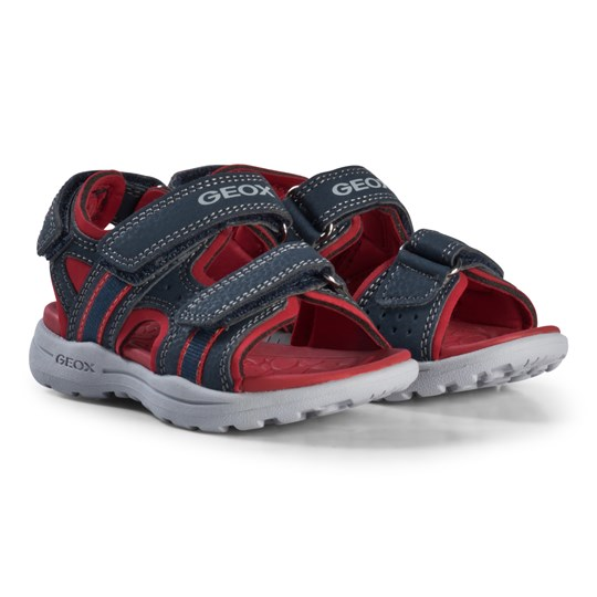 Geox Navy and Red Gleeful Sandals C0735