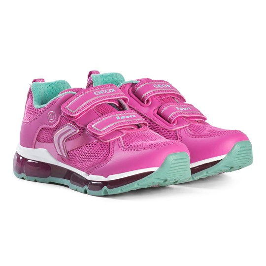 Geox Pink Android Velcro Light Up Sneakers C8471