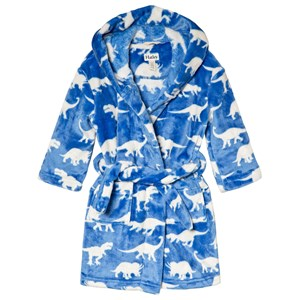 Image of Hatley Blue Roaming Dinosaurs Fleece Robe L (6-7 years) (3056073315)