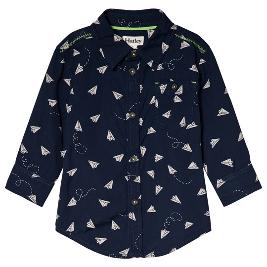Hatley Navy Paper Planes Shirt Navy