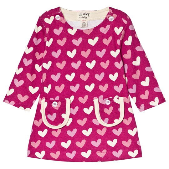 Hatley Purple Multi Hearts Dress Purple