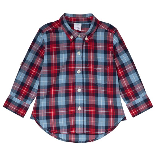 GAP Gap Plaid Shirt Buxton Blue BUXTON BLUE