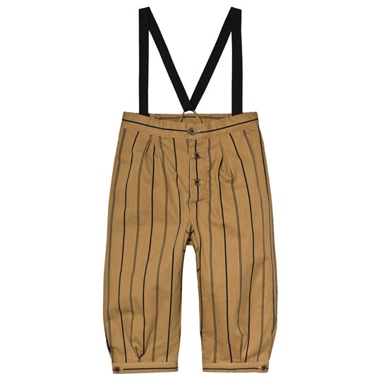 Little Creative Factory Brown Stripe Wide Leg Rain Pants Striped
