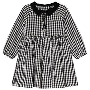 Image of Little Creative Factory Black and White Check Collared Dress 10 years (3065520981)