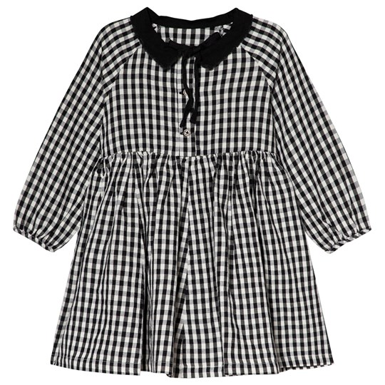91866f528 Little Creative Factory - Black and White Check Collared Dress ...