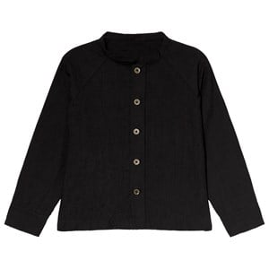Image of Little Creative Factory Black Collarless Crinkled Shirt 10 years (3056078267)