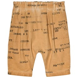 Little Creative Factory Brown Printed Baby Pants