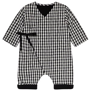 Image of Little Creative Factory Black and White Check Quilted Romper 12 months (3056078091)