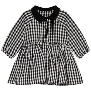 Image of Little Creative Factory Black and White Check Collared Baby Dress 12 months (3056078067)