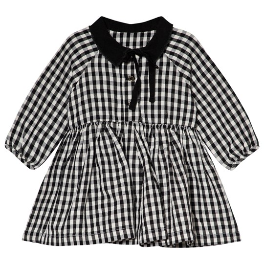 Little Creative Factory Black and White Check Collared Baby Dress CHECKED