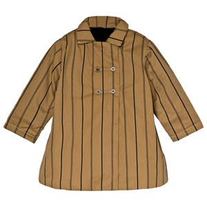 Image of Little Creative Factory Brown Baby Striped Padded Rain Coat 12 months (1124272)