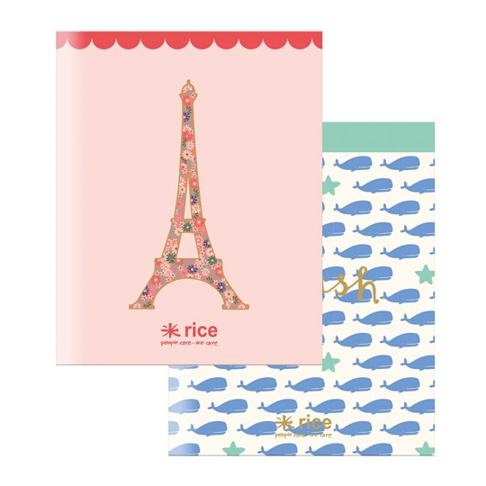 Rice A5 Exercise Notebooks with Assorted Prints 40 Sheets Pack of 3 valar eifel