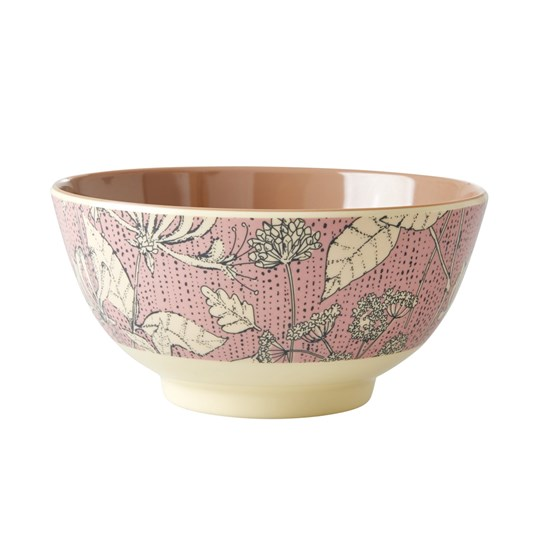Rice Medium Melamine Bowl Wild Chervil