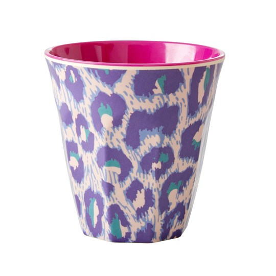 Rice Medium Melamine Cup Leopard