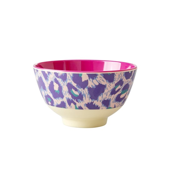 Rice Small Melamine Bowl Leopard
