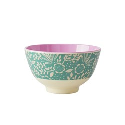 Rice Small Melamine Bowl Fern and Flower
