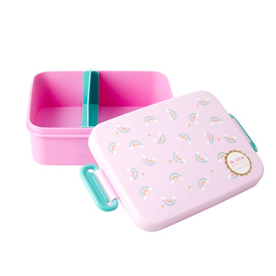 Rice Large Lunchbox with Divider Rainbow