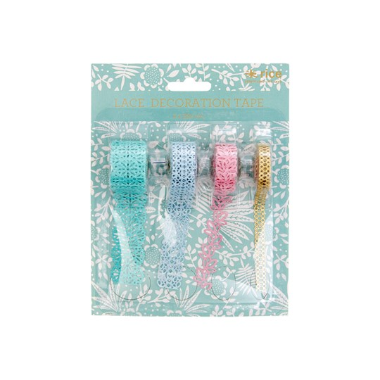 Rice 4-Pack Paper Lace Tape