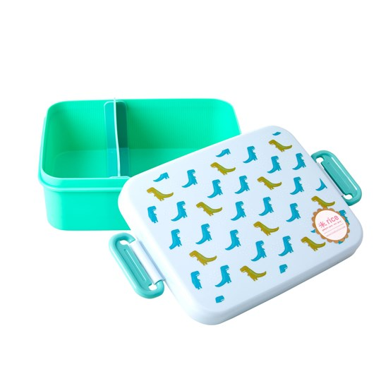 Rice Large Lunchbox with Divider Dinosaur
