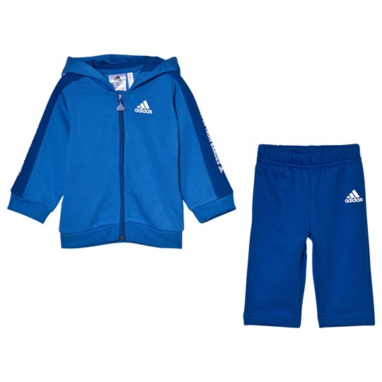 adidas Performance Infants Hoodie and Joggers Set Blue Top:blue/collegiate royal/white Bottom:COLLEGIATE