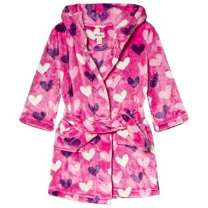 Image of Hatley Pink Multi Hearts Fleece Robe L (6-7 years) (3056073299)