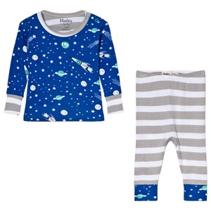 Image of Hatley Blue Outer Space Organic Pyjama Set 9-12 months (3056073383)