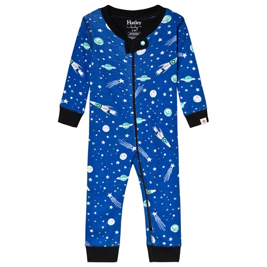 Hatley Blue Outer Space Organic One-Piece Blue