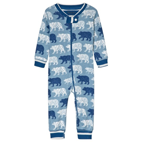 Hatley Blue Polar Bear Silhouettes Organic One-Piece Blue