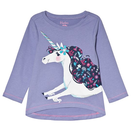 Hatley Lovely Unicorn T-shirt Lila Purple