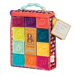 Image of B Toys One Two Squeeze® Blocks 3 months - 3 years (3056106371)