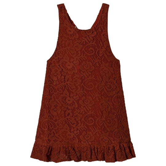 Wolf & Rita Clarice Dress Brick Lace Brick