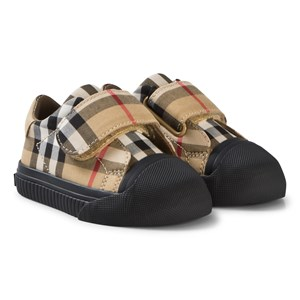 Image of Burberry Antique Check Velcro Beech Sneakers 19 (UK 3) (3056066731)