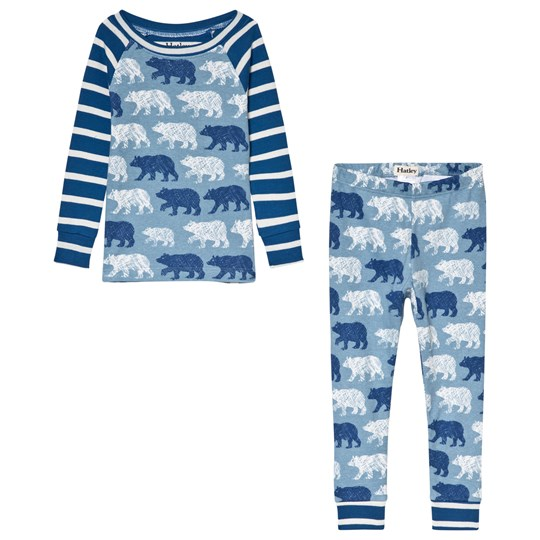 Hatley Blue Polar Bear Silhouettes Space Organic Pyjama Set Blue