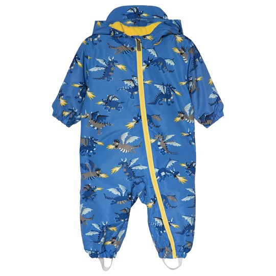Hatley Blue Fire-Breathing Dragons Microfiber Coverall Blue