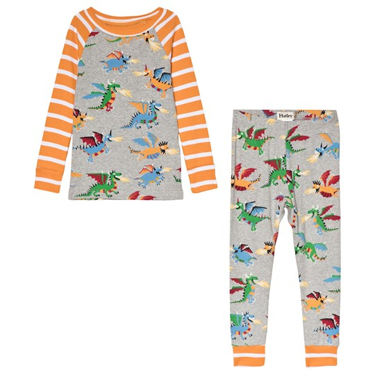 Hatley Grey Fire-Breathing Dragons Organic Pyjama Set Black