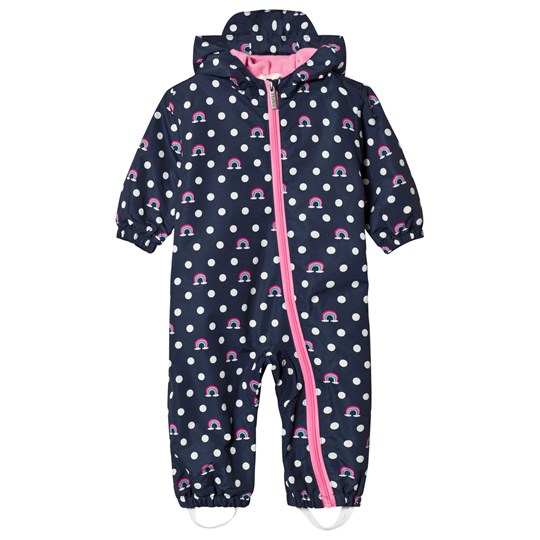 Hatley Navy Dots and Rainbows Baby Coverall Navy