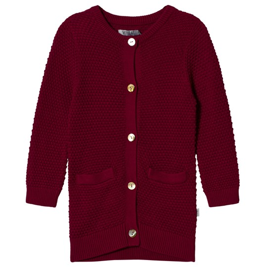Wheat Red Plum Alva Knit Cardigan Red plum